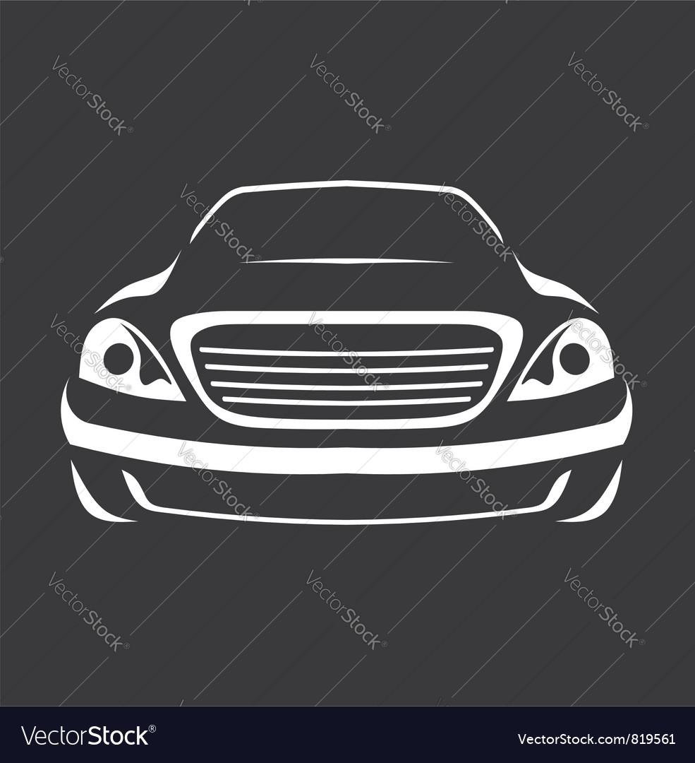 Big car silhouette vector