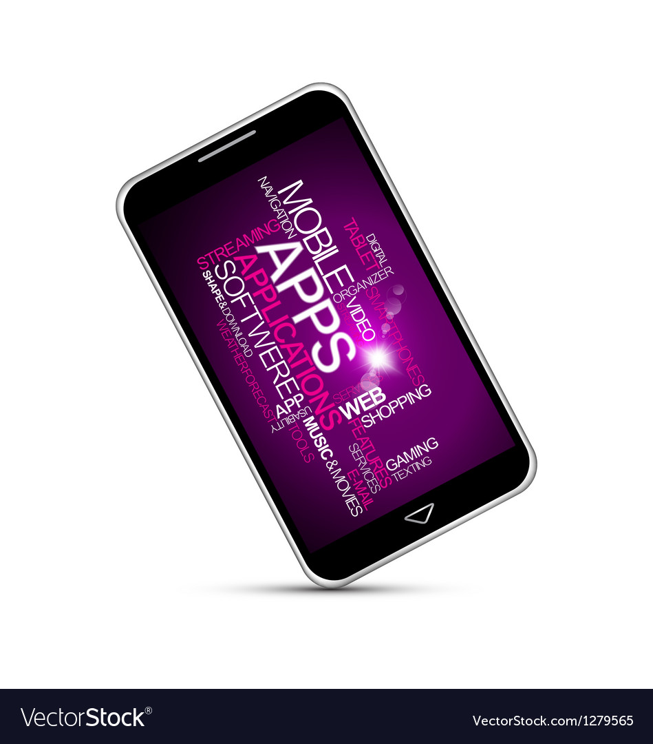 Smartphones application vector