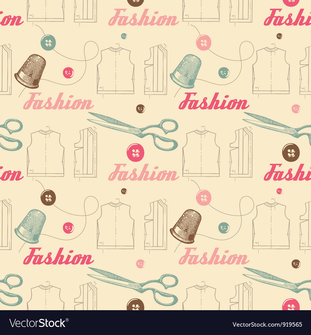 Vintage fashion pattern background vector