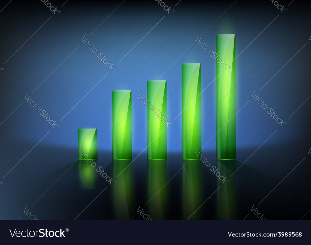 Financial graph chart vector