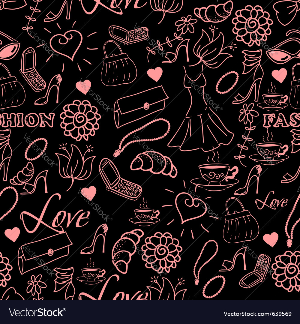 Abstract fashion background vector