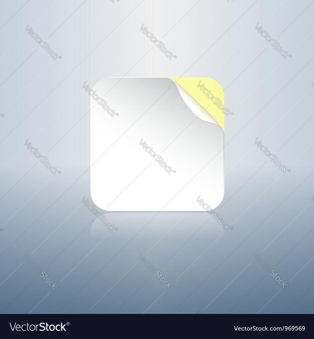 Sticker memo note icon vector