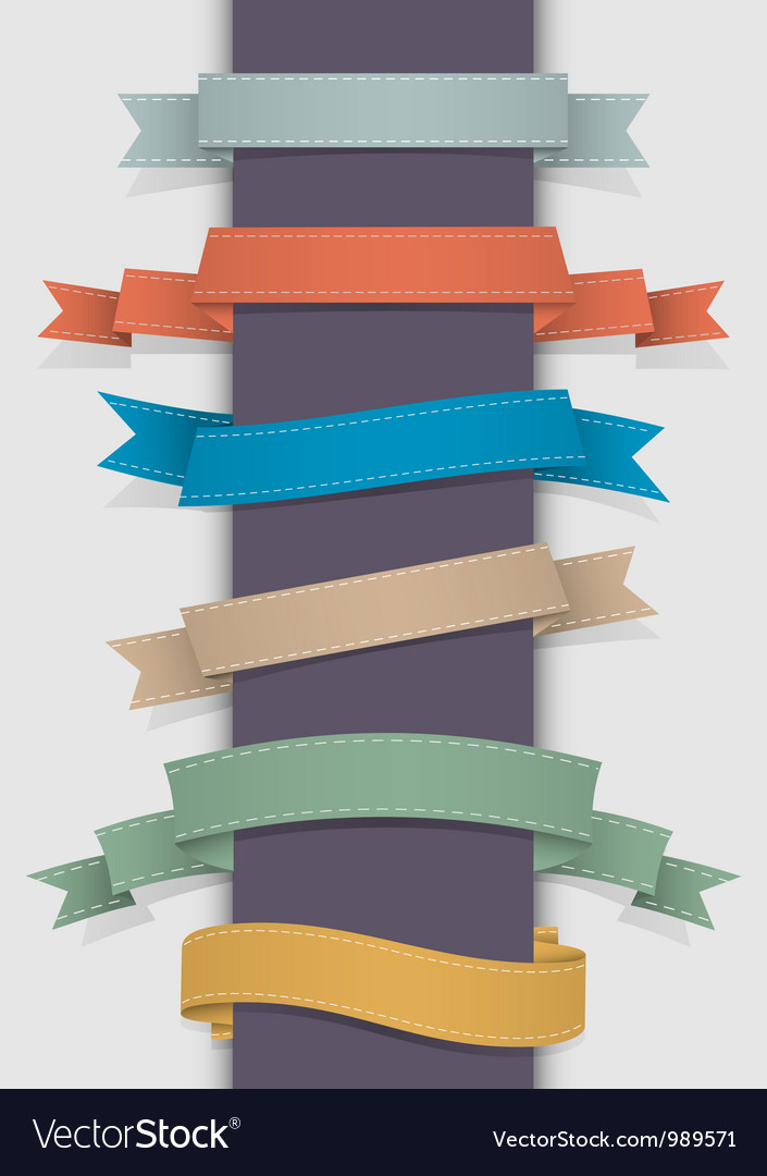 Retro ribbons vector