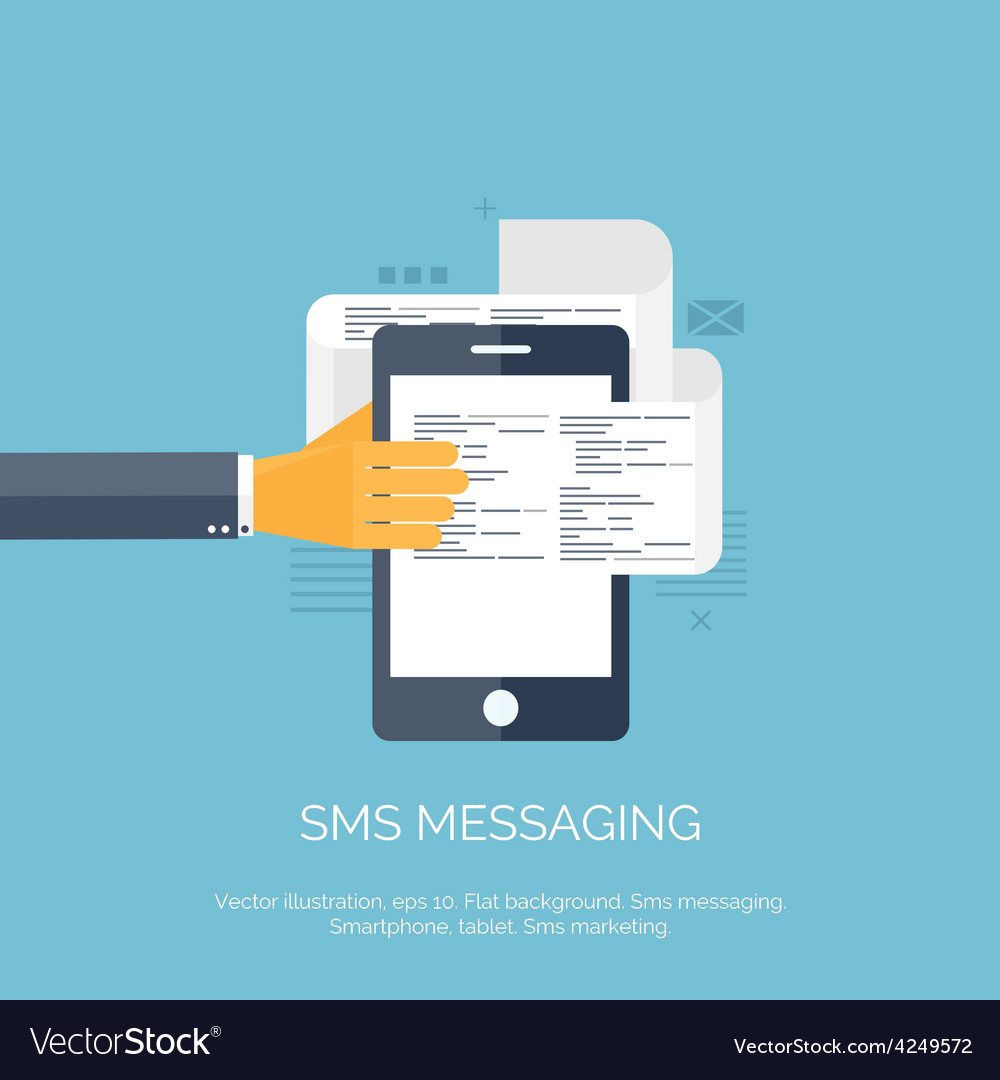 Sms communication social vector