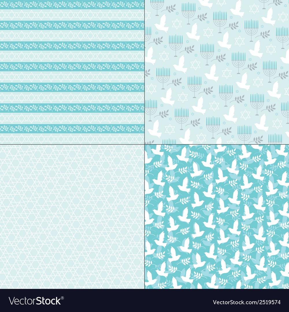 Chanukah patterns vector