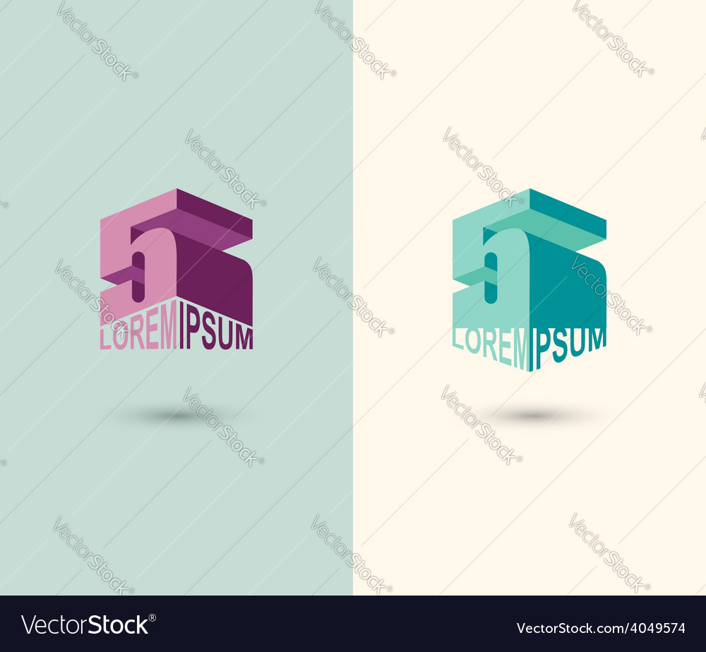 Figure 5 logo 3d figure five icon concept design vector