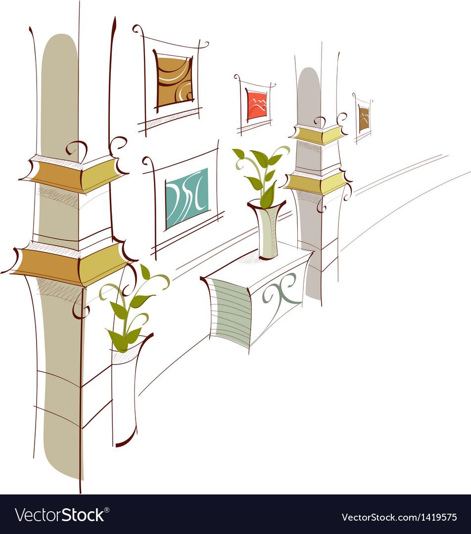 Home hallway vector