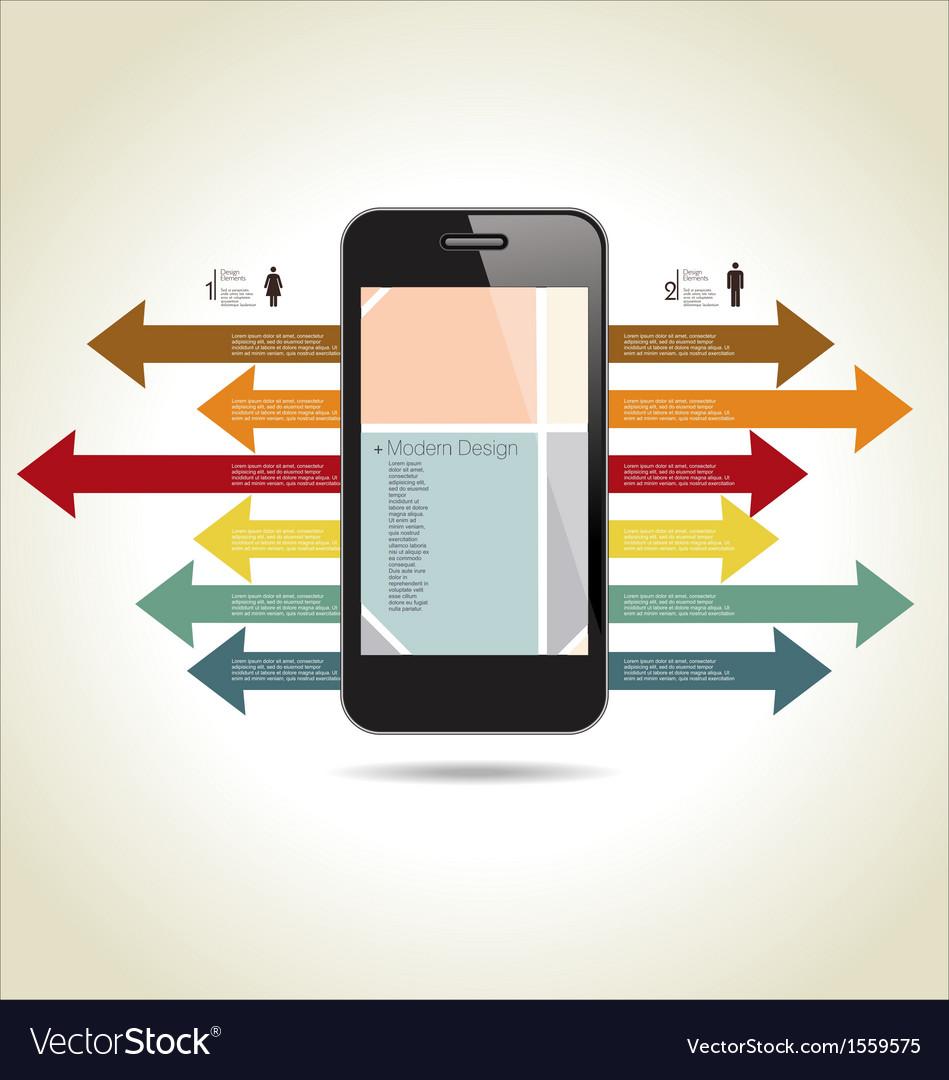 Modern design background vector