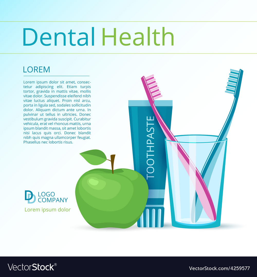 Dental health vector