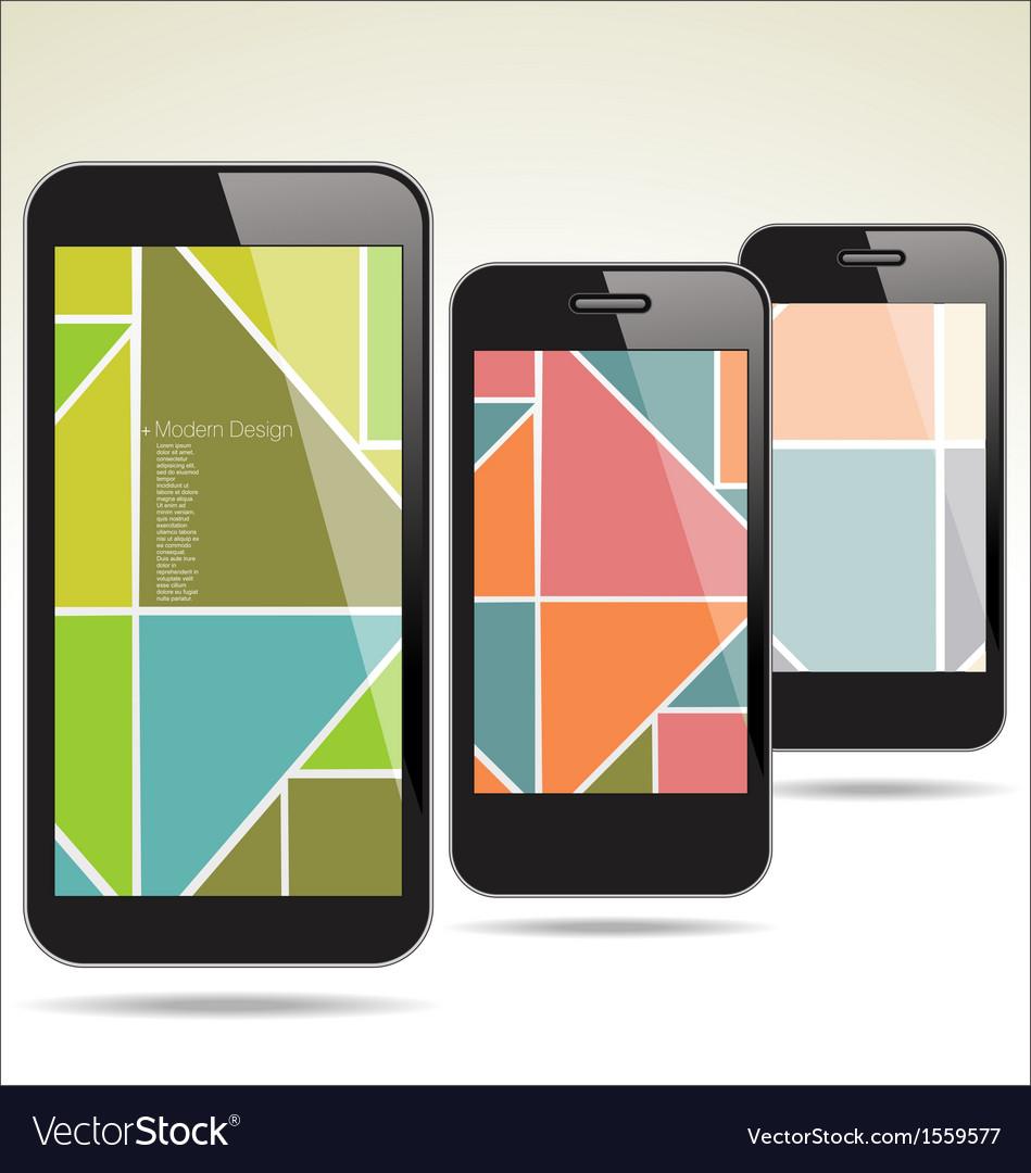 Modern smartphone abstract design vector