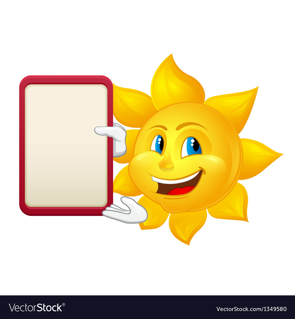 Blue eyed sun with demonstration board vector