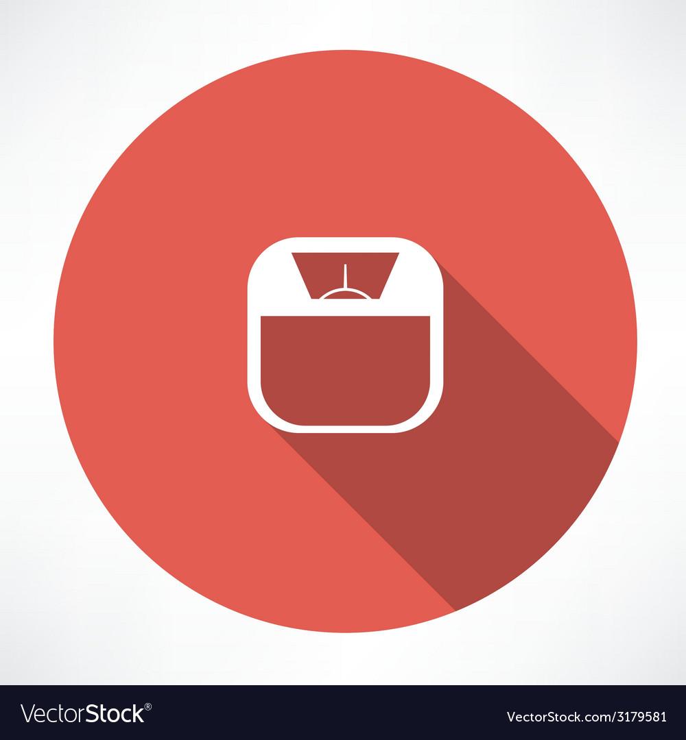 Bathroom digital scale vector