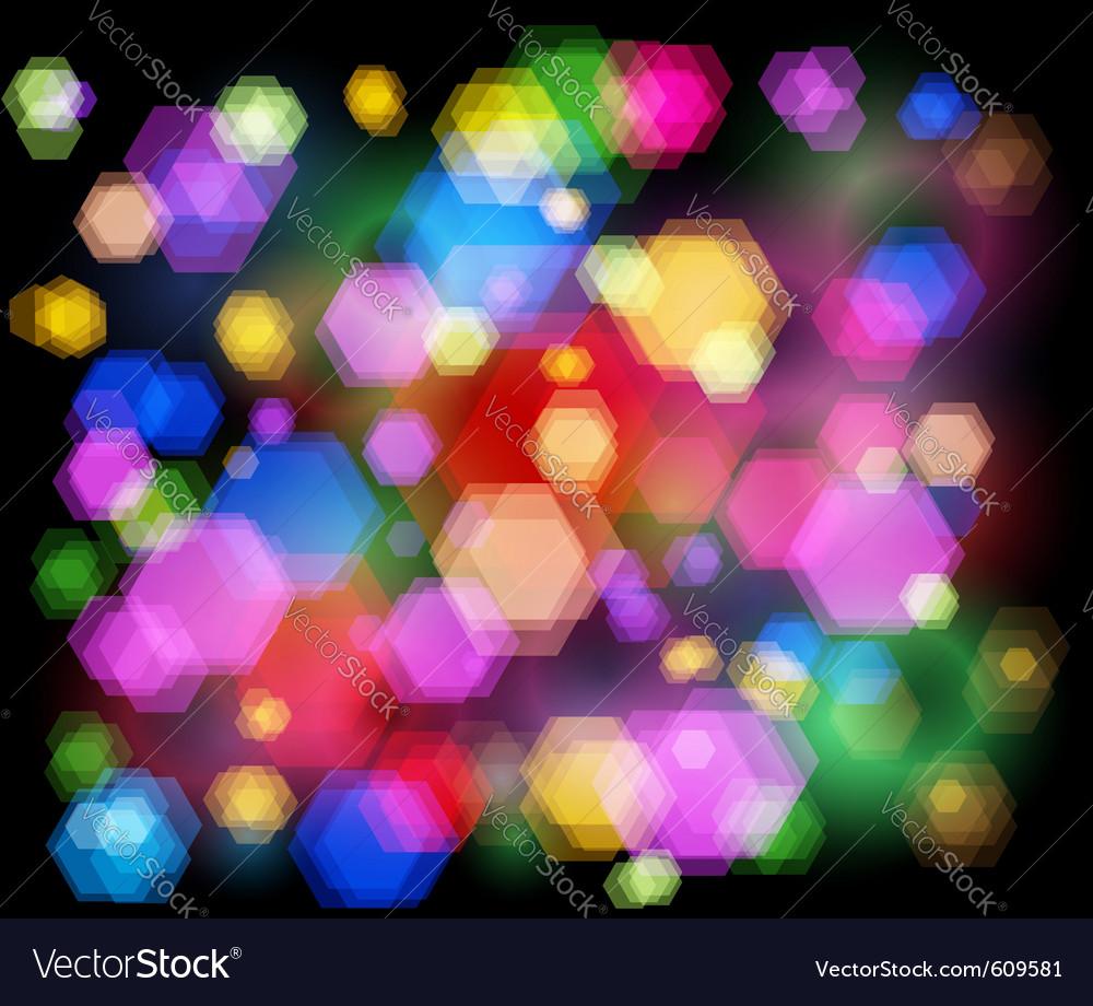 Unfocused night light - highway sparkles vector
