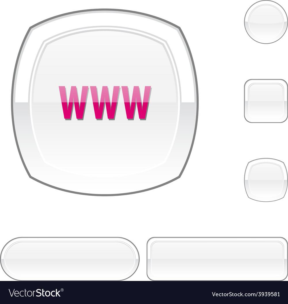Www white button vector