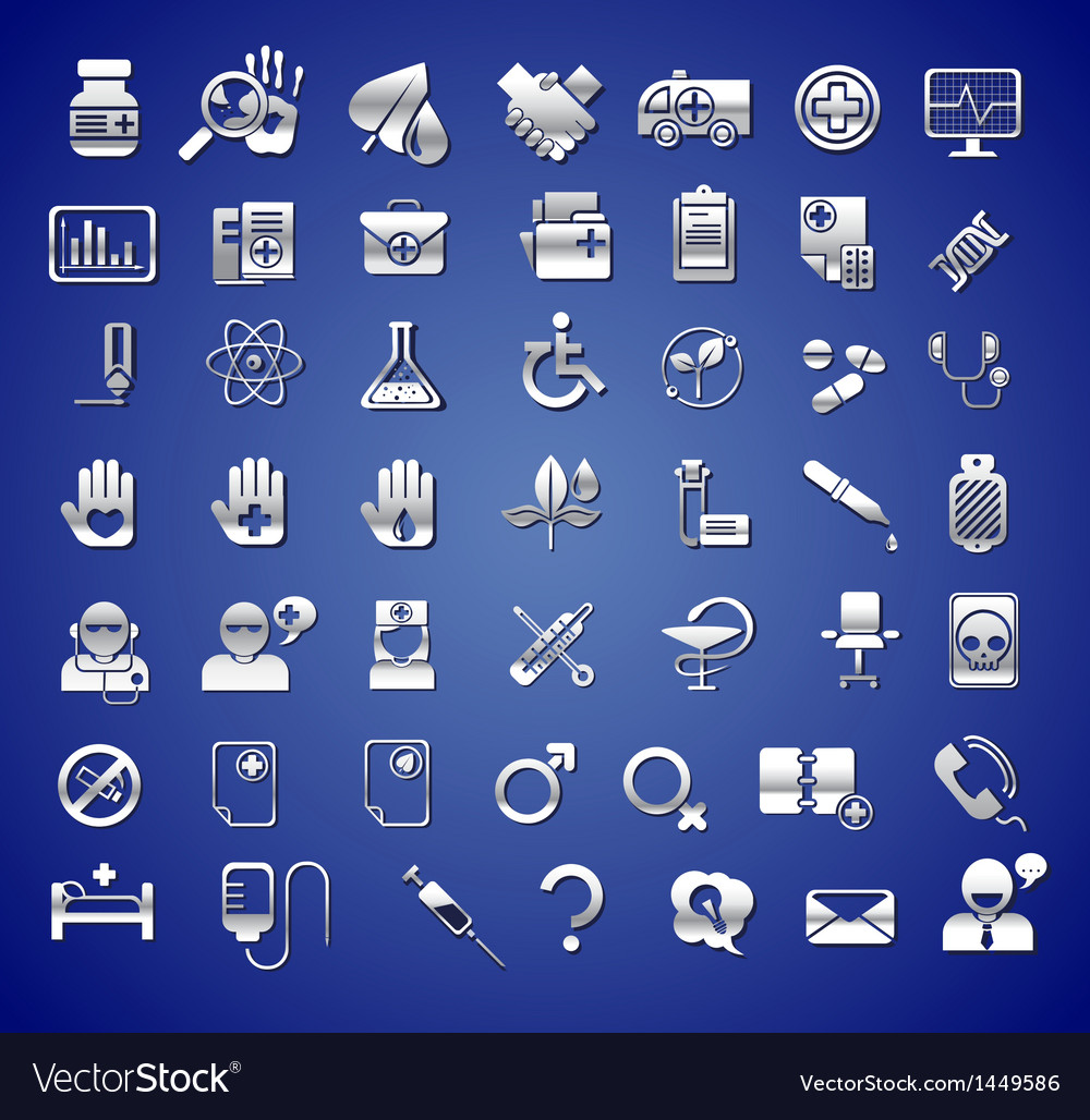 Edicine and healthcare icons vector