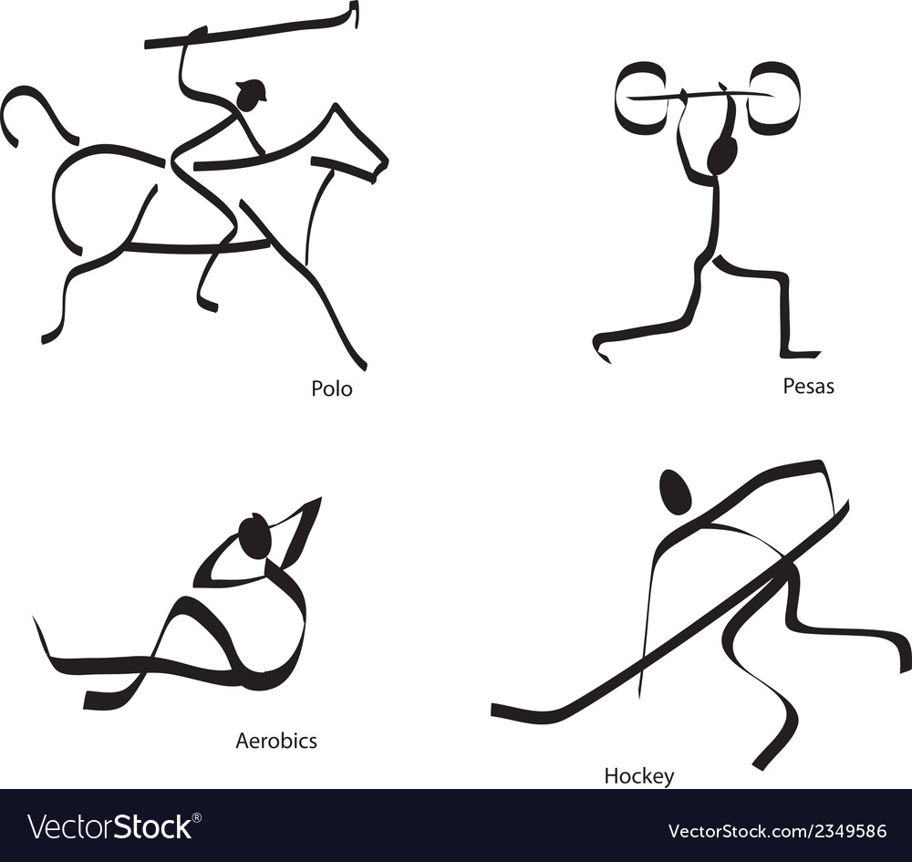Stylised sporting icons vector