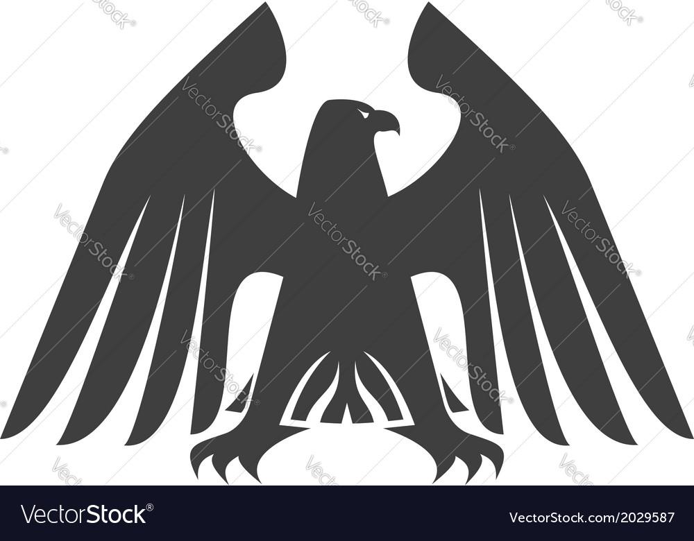 Silhouette of a majestic eagle vector