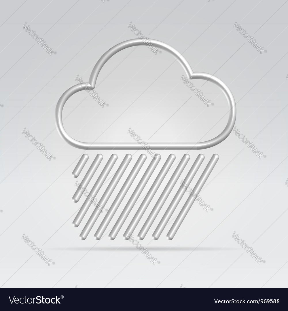 Weather rain hard vector