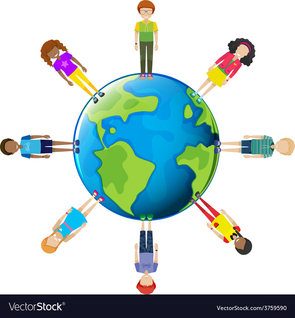 Youths around the globe vector