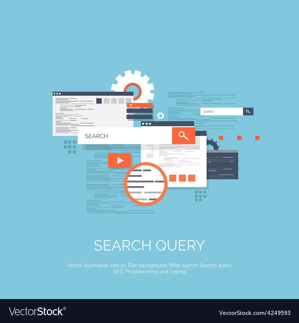 Web search flat computing vector