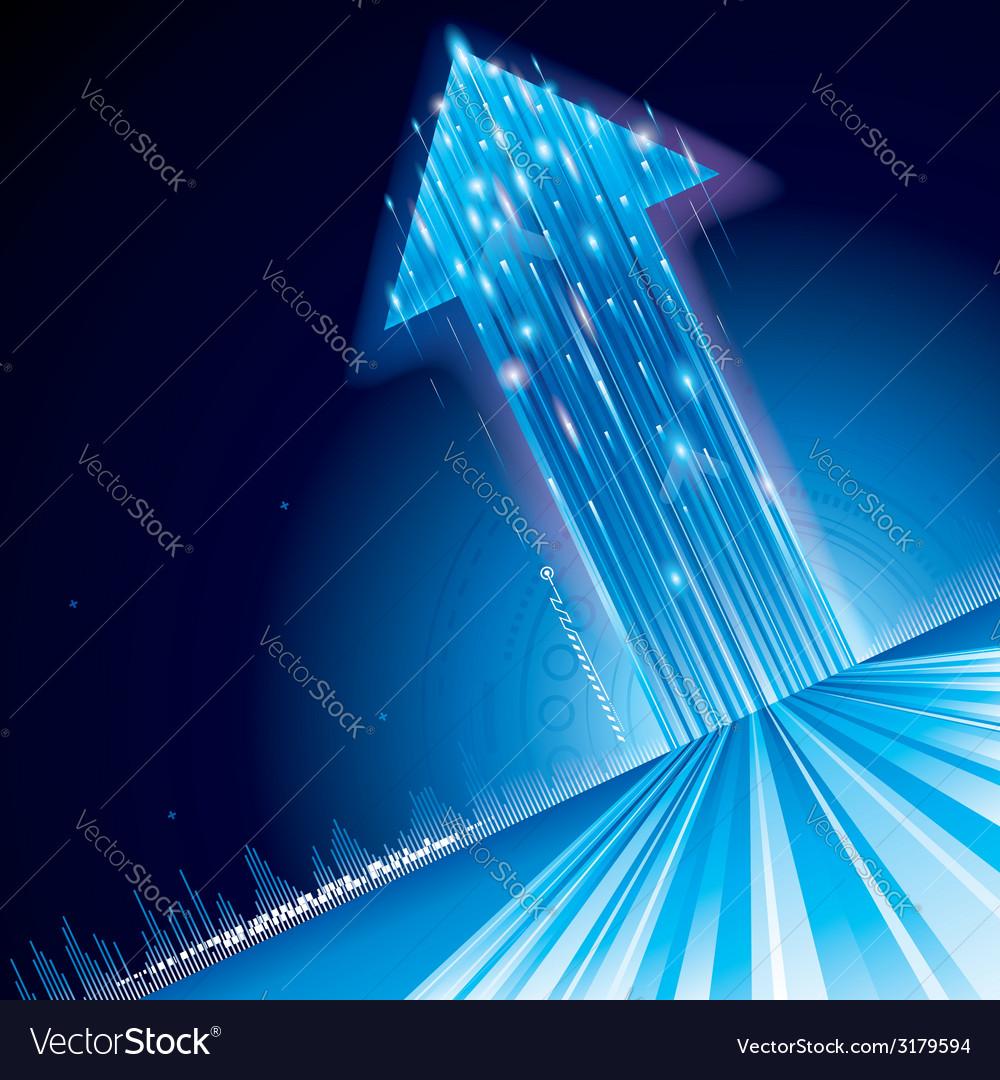 Growth technology arrow vector