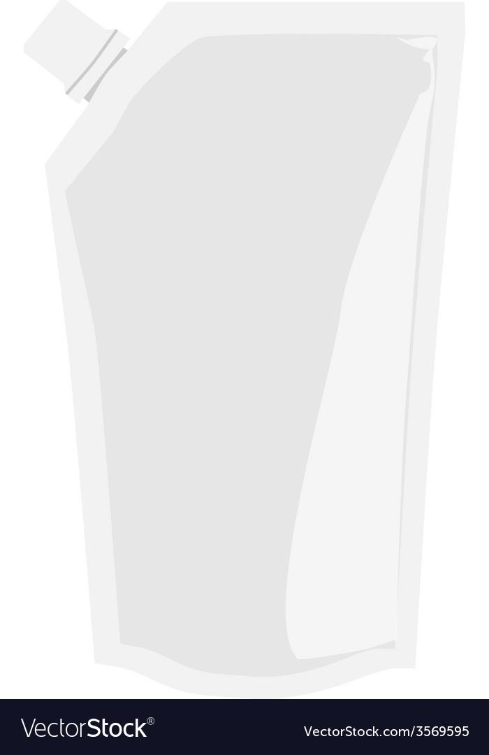 Blank sauce package vector