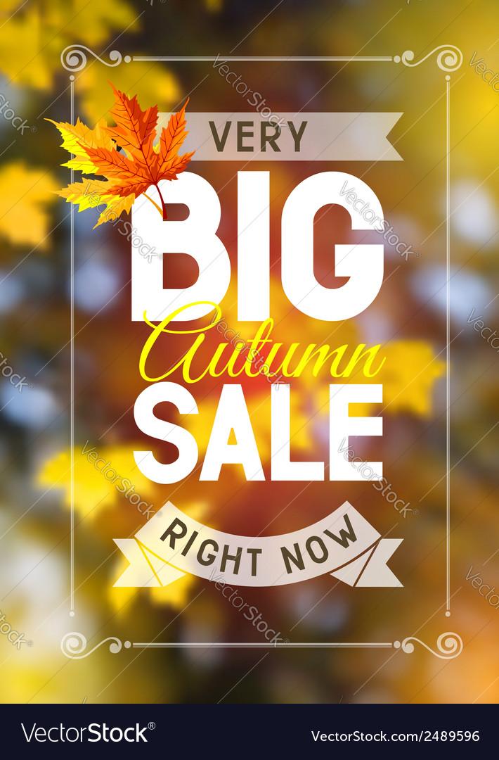 Autumn sale vector