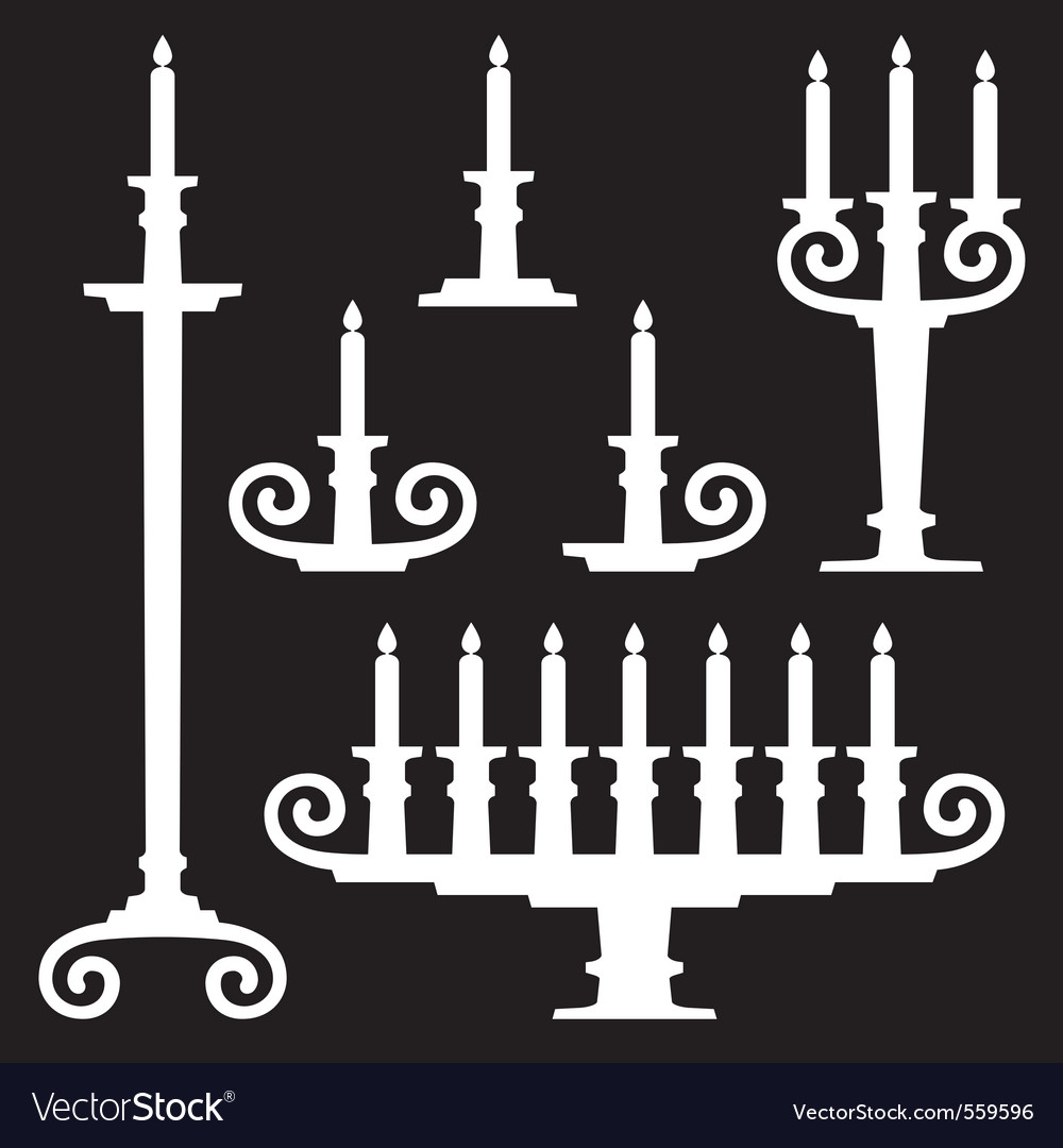 Candle stands vector