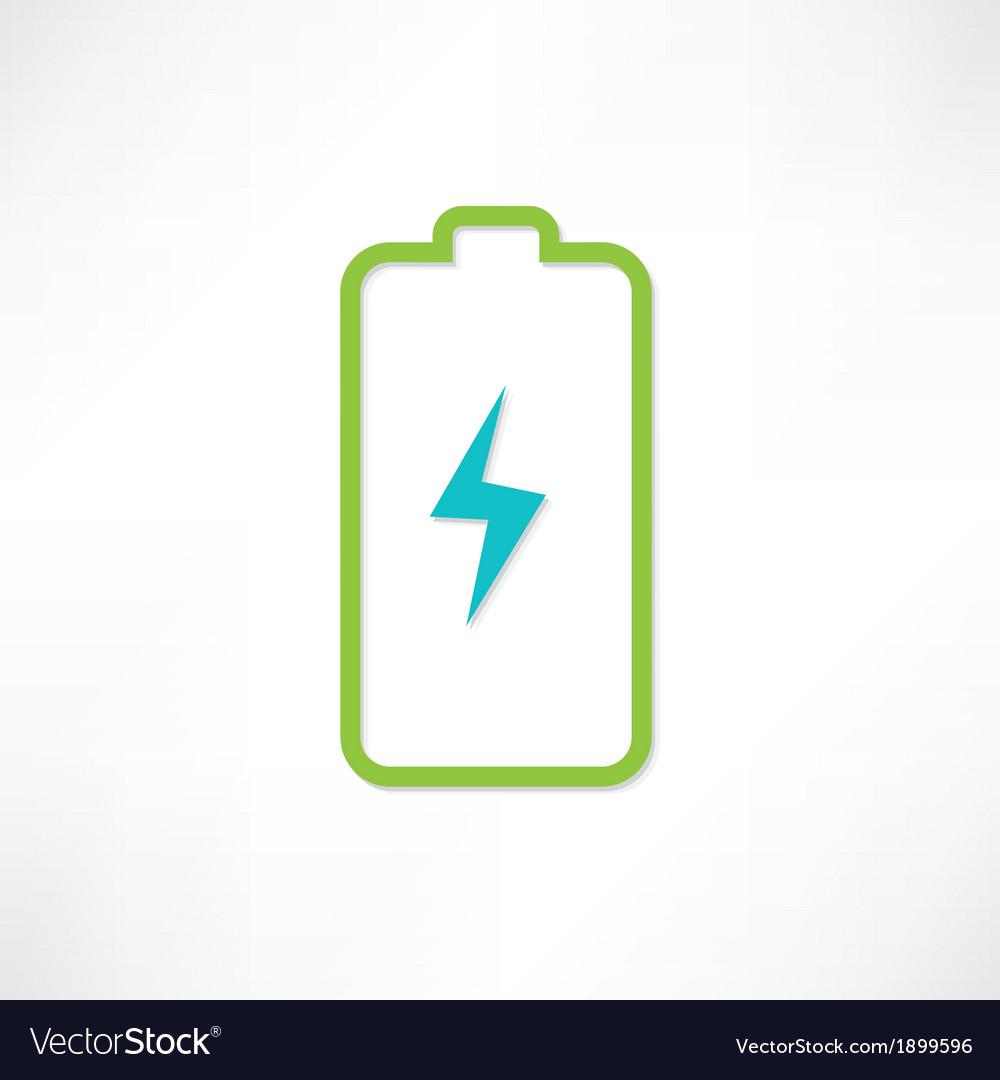 Green battery vector