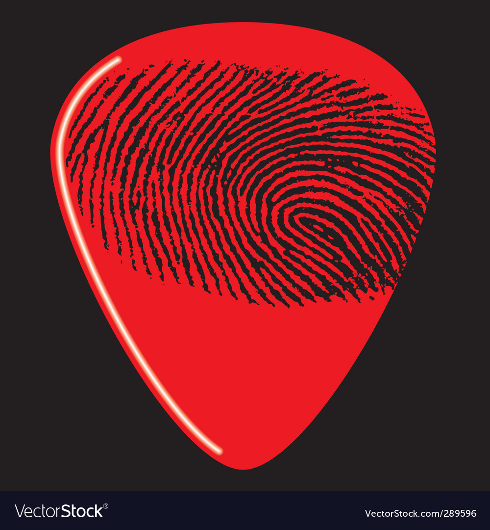 Guitar pick fingerprint vector