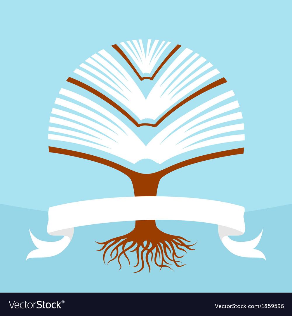Tree book vector