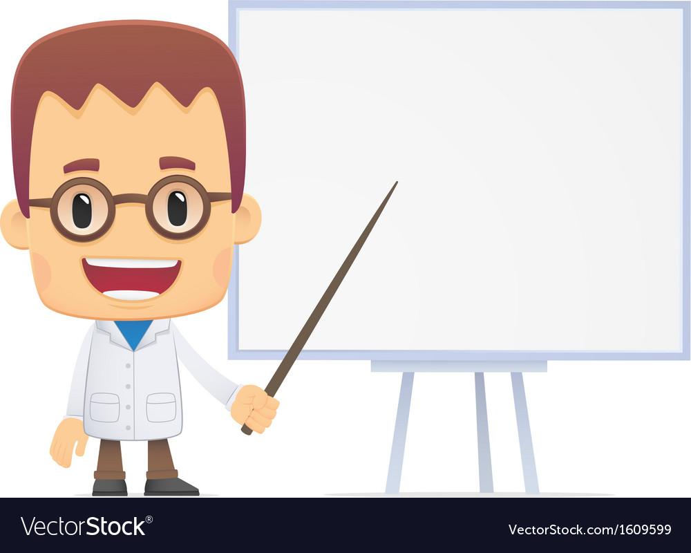 Scientist in various poses vector