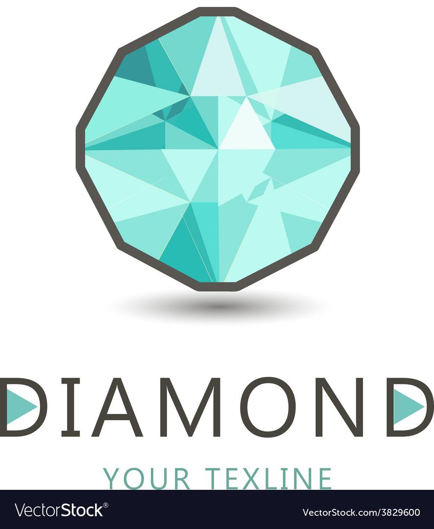 Diamond jewelry logo icon isolated vector