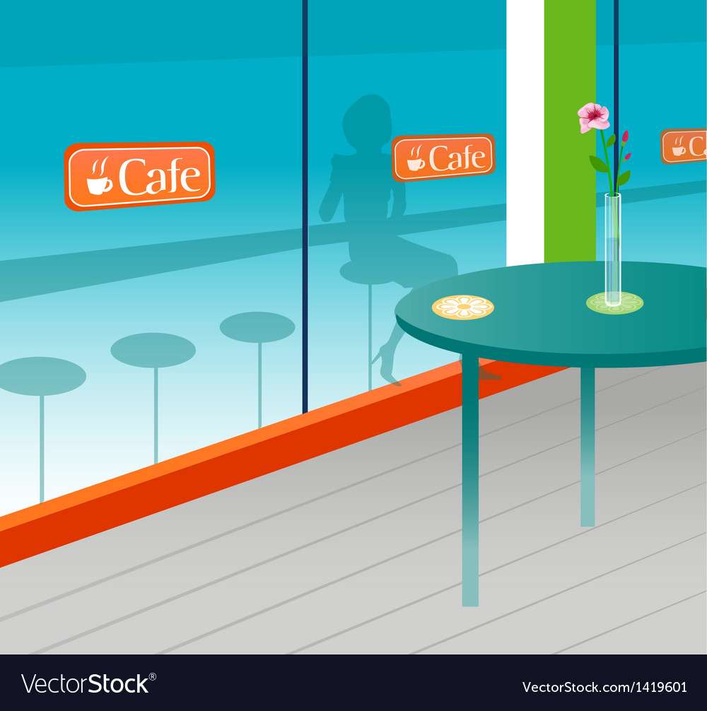 Cafe interior vector
