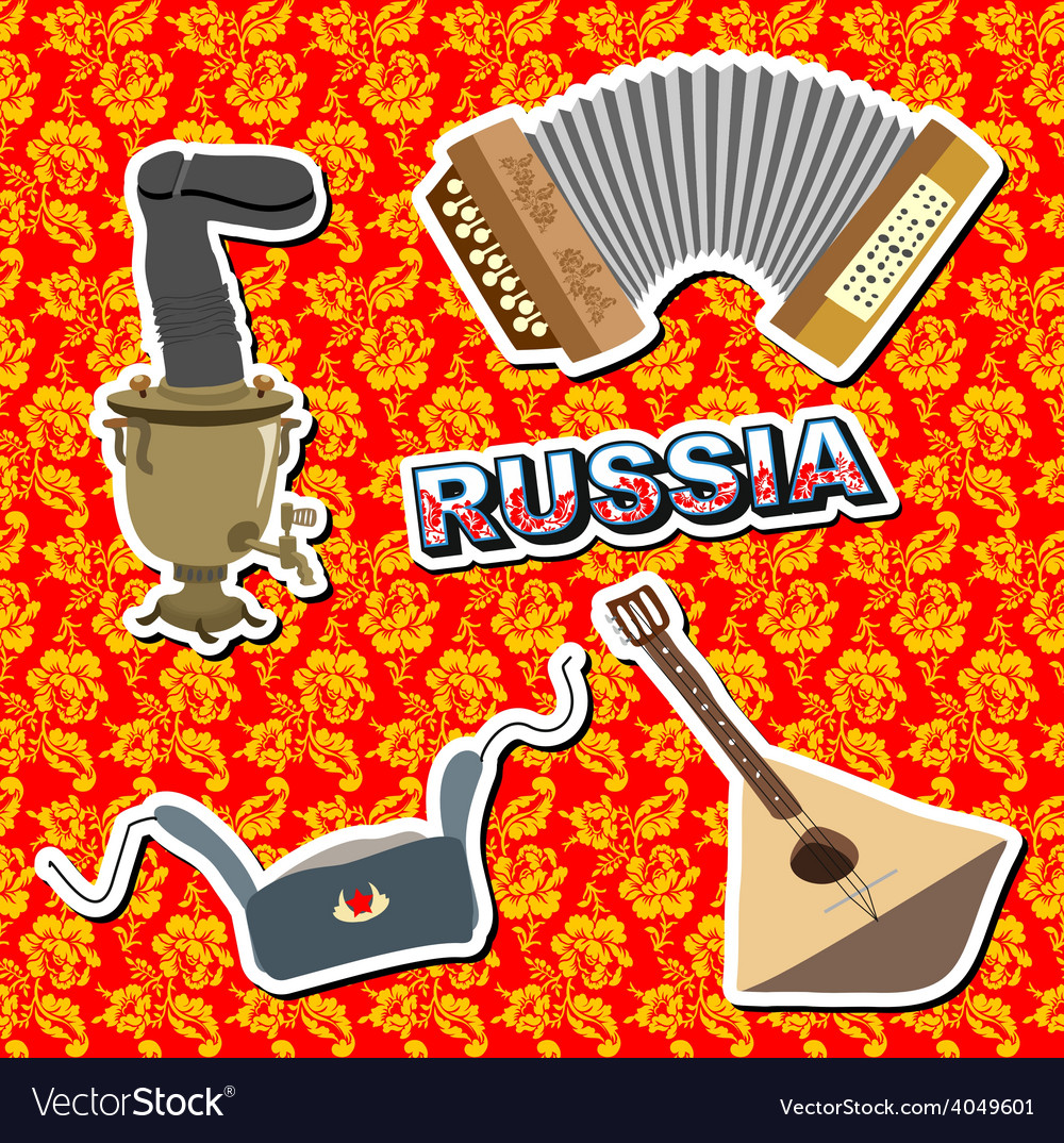Set russian icons vector