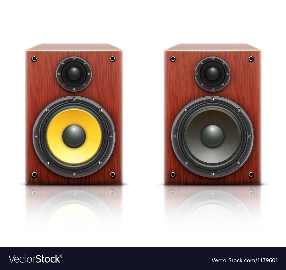 Sound loud hi-fi audio system vector