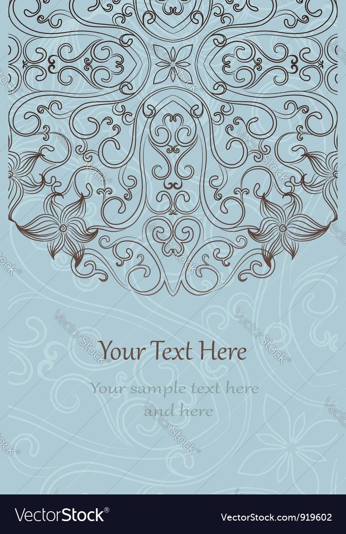 Elegant invitation cards vector