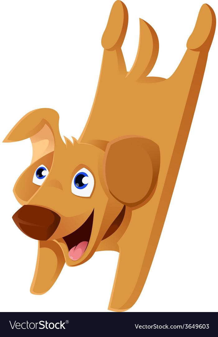 Cartoonn puppy vector