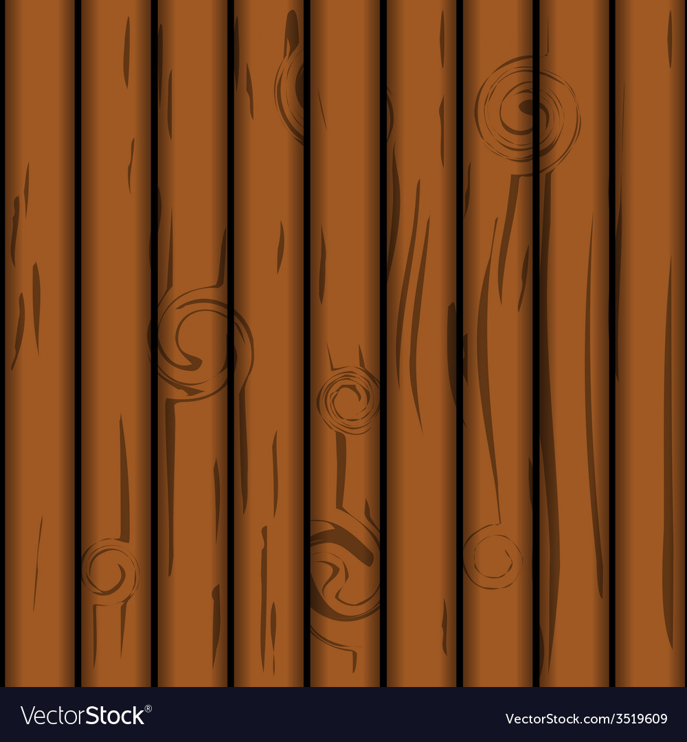 Wooden plank texture vector