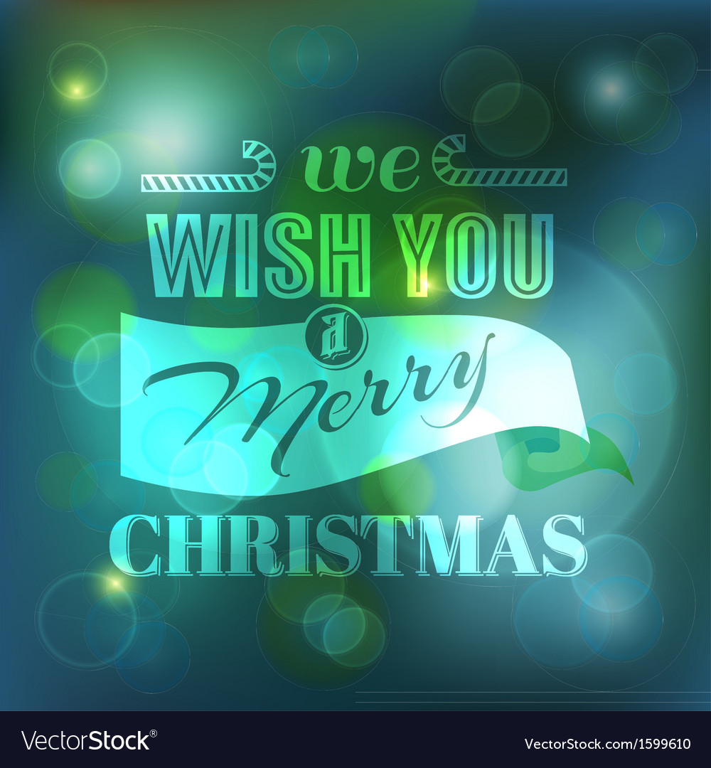 Christmas card - calligraphic elements vector