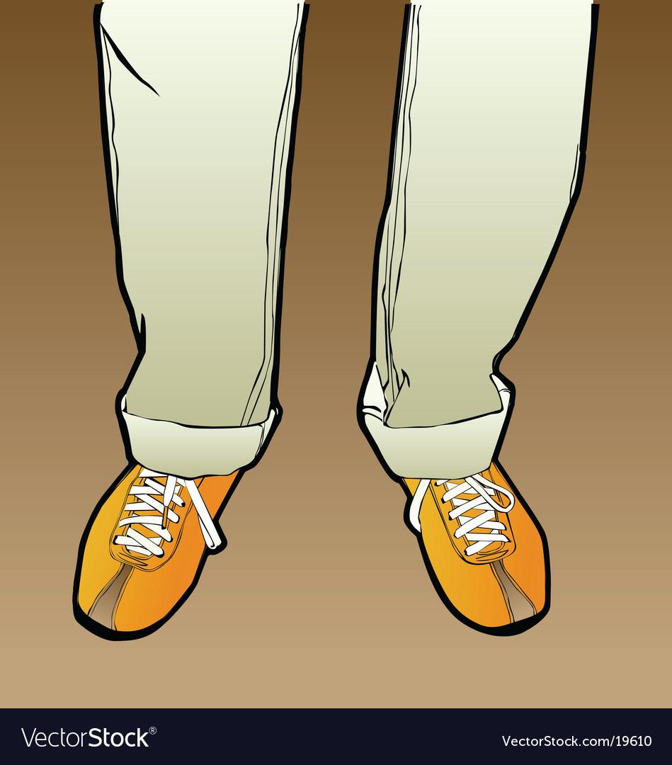 Men's legs vector