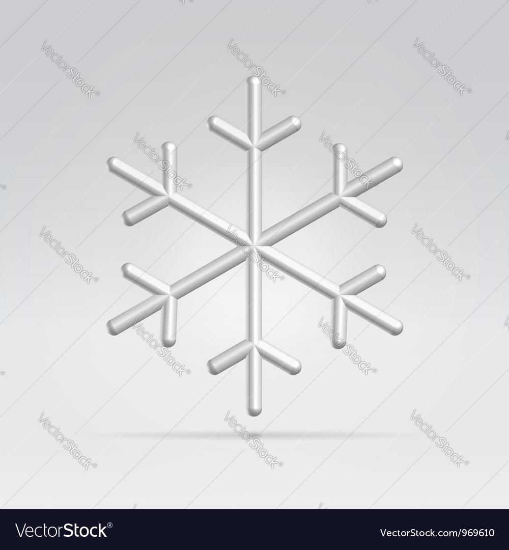 Wire snowflake vector