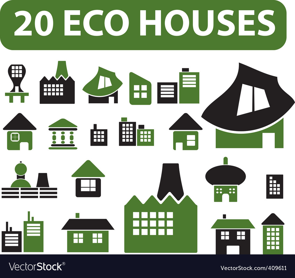 Simple houses vector