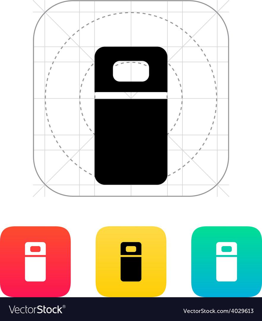 Single bed icon vector
