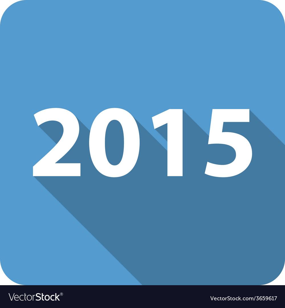 2015 flat icon vector