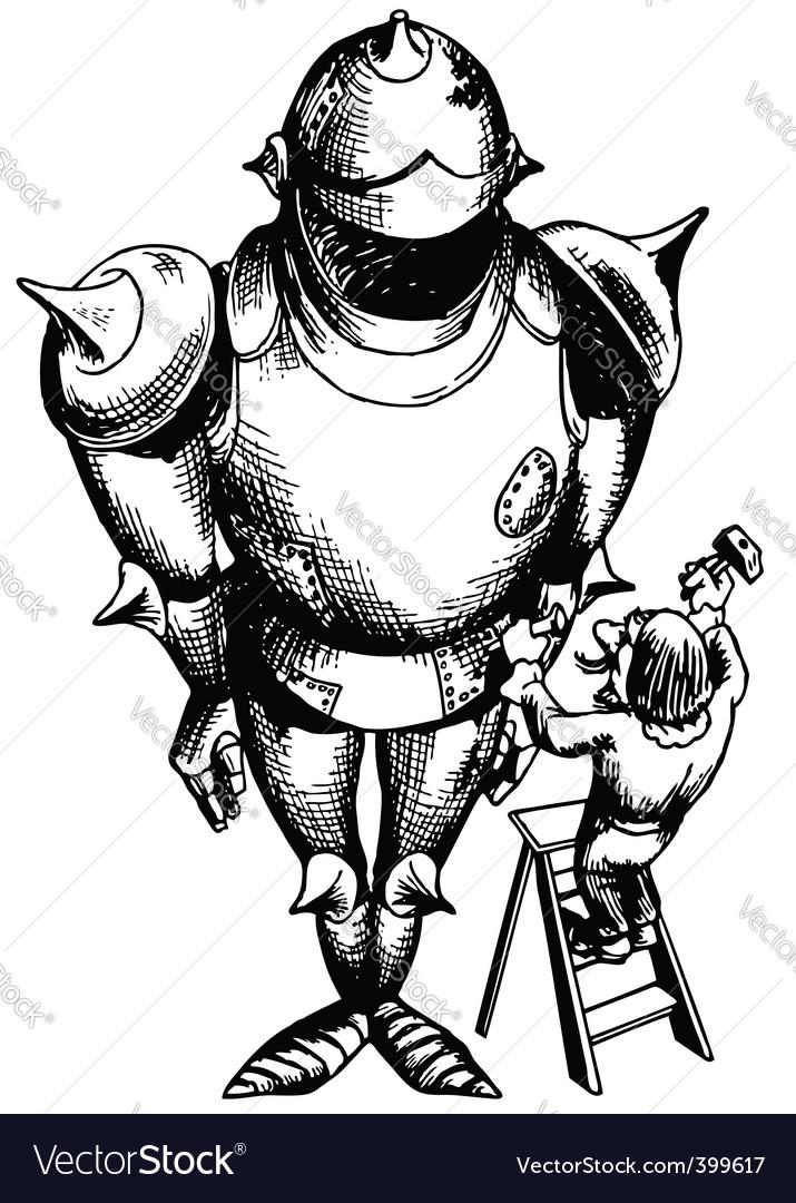 Armor suit vector