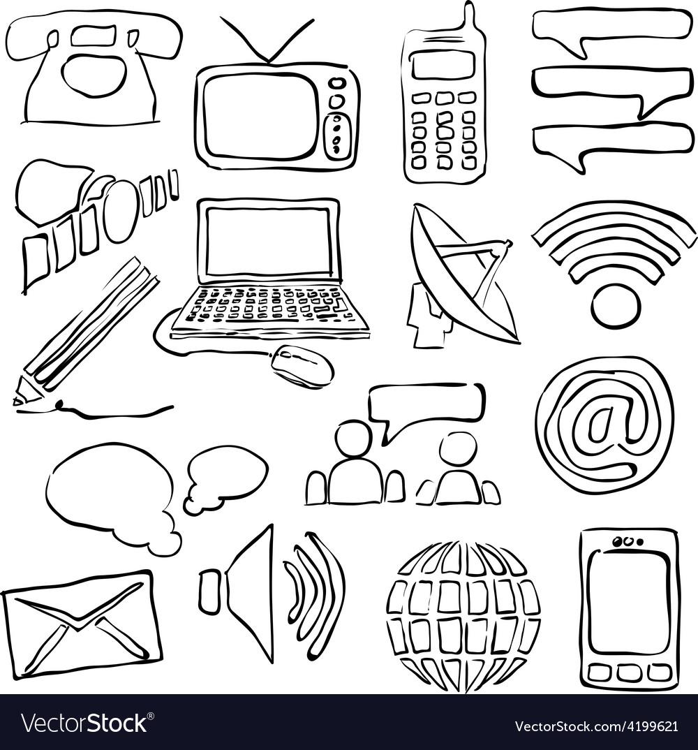 Sketch communication images vector
