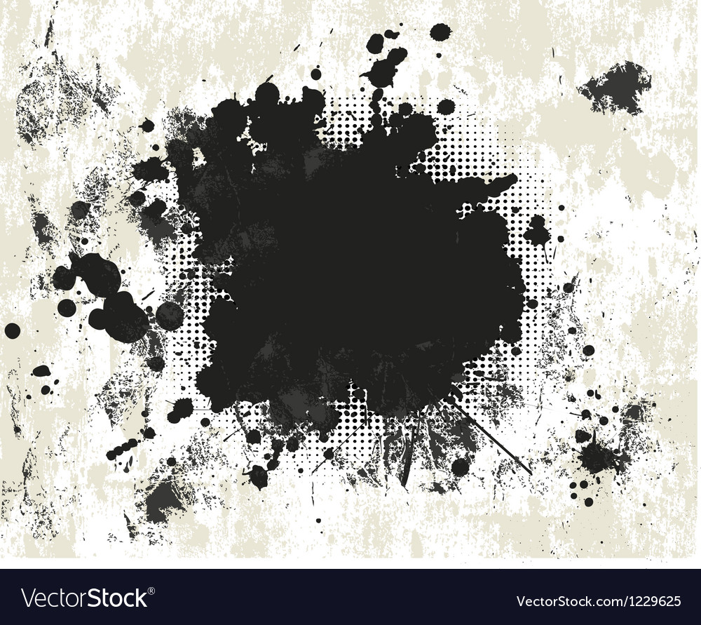 Grunge background with halftone vector