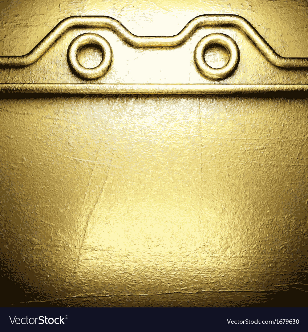 Background with gold vector