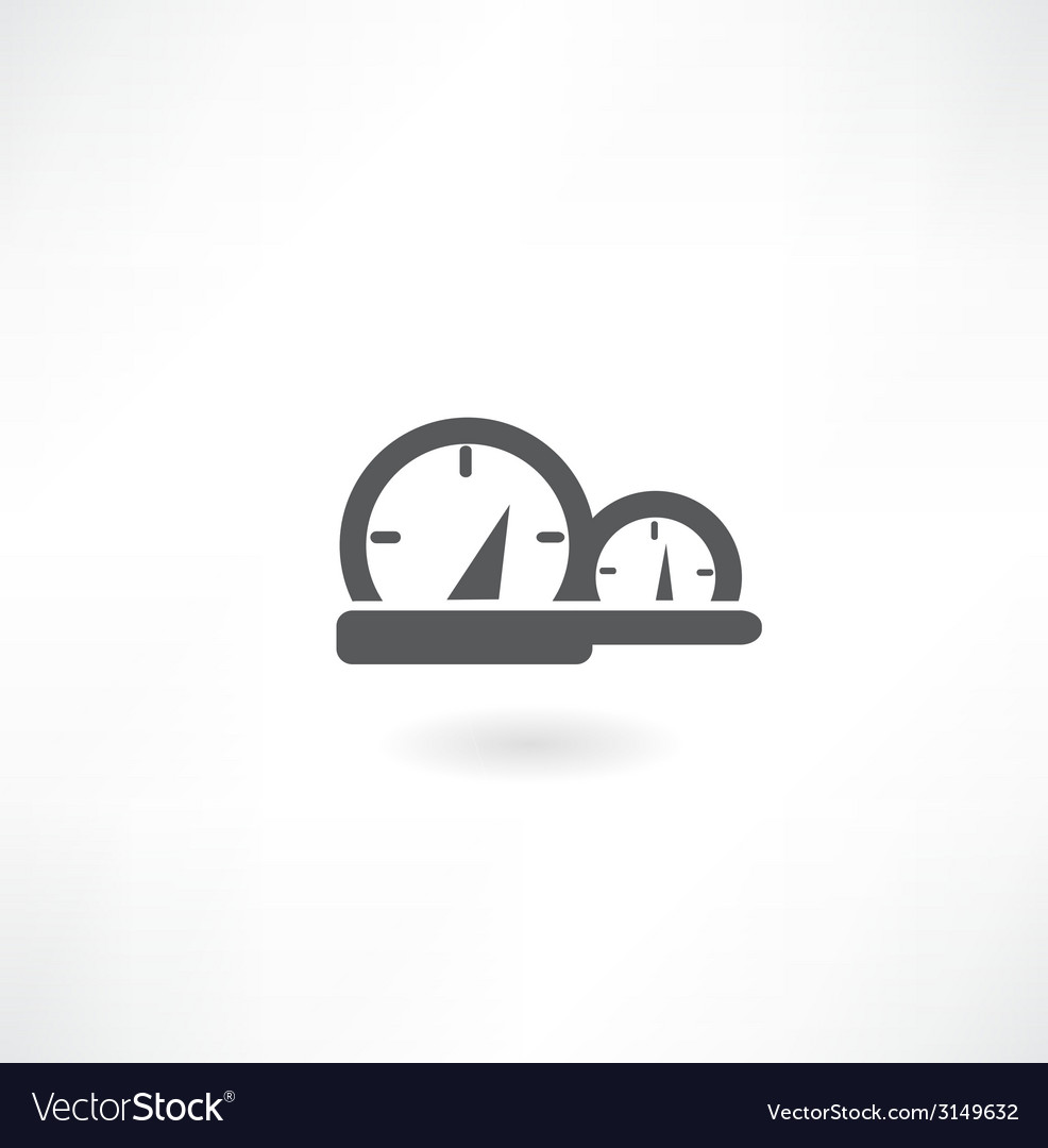 Speedometer in the car icon vector